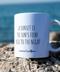 sunset dark mug